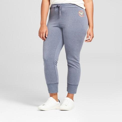 1c2ca5598d2 Women s Plus Size Wonder Woman Graphic Jogger Pants (Juniors ) - Navy