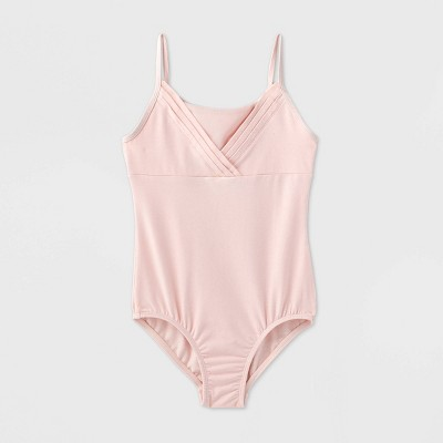 Girls' Pleated Cami Dance Leotard - More Than Magic™ Pink