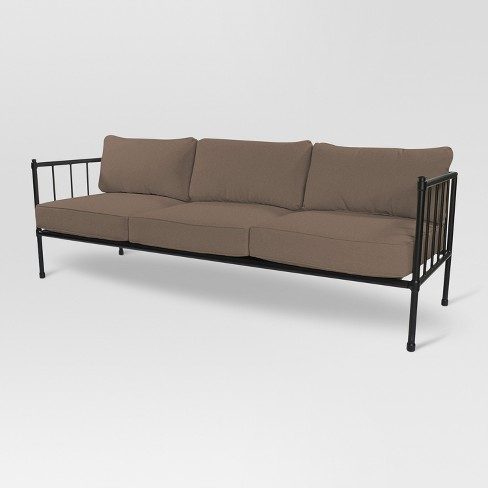 Fernhill Metal Patio Sofa - Taupe - Threshold™ - image 1 of 3