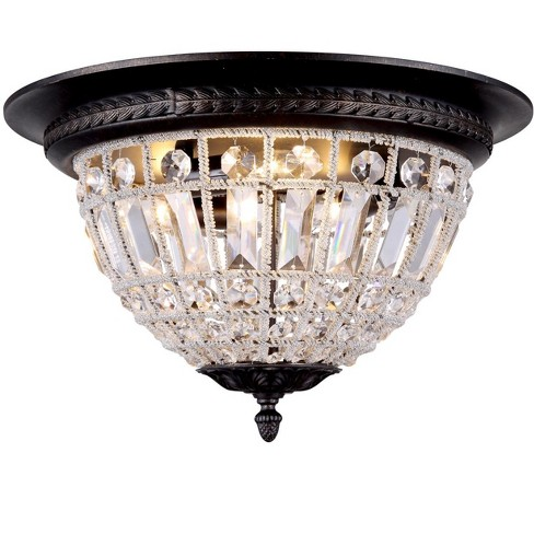 """Elegant Lighting 1205F18 Olivia 18"""" Wide 3 Light Flush Mount Ceiling Fixture from the Urban Classics Collection - image 1 of 1"""