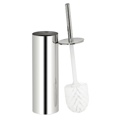 Toilet Brush And Holder Set Stainless Steel - Bath Bliss
