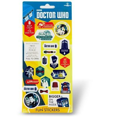 Se7en20 Doctor Who Assorted 22-Piece Sticker Sheet Set