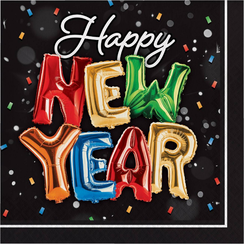 Image of 48ct New Year Balloons Napkins