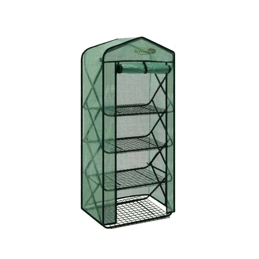 Image of 4 Tier Pop-Up Greenhouse with Green Premium PE Cover - OGrow