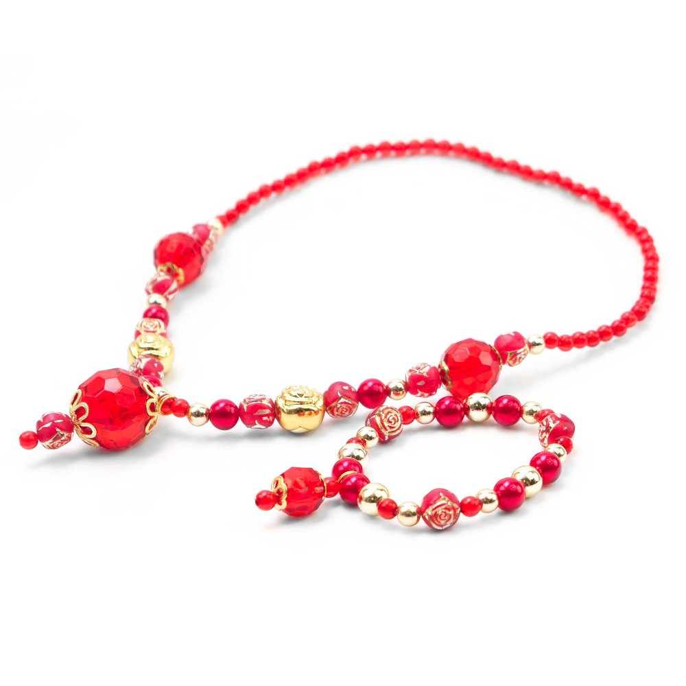 Little Adventures Princess Jewelry - Red-Gold Set