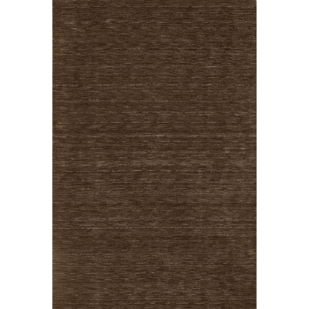 8 X10 Tonal Solid 100 Wool Area Rug Chocolate Addison Rugs