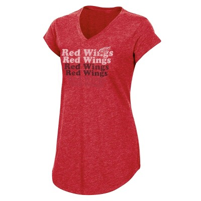 NHL Detroit Red Wings Women's Team Pride V-Neck T-Shirt - S