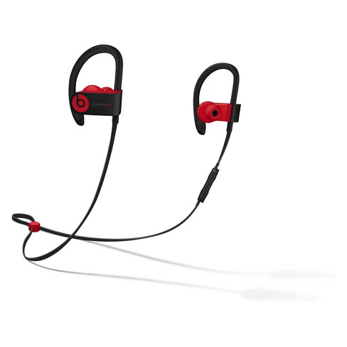 Beats Powerbeats3 Decade Collection Wireless Earphones - Defiant Black-Red (MRQ92LL/A) - image 1 of 8