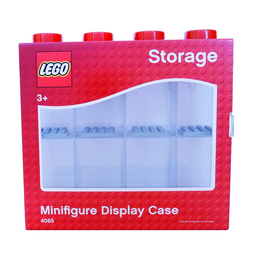 Lego Minifigure Display Case - Red