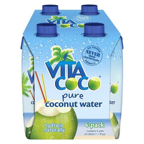 Vita Coco Pure Coconut Water - 4pk/11.1 fl oz Cartons - image 1 of 1
