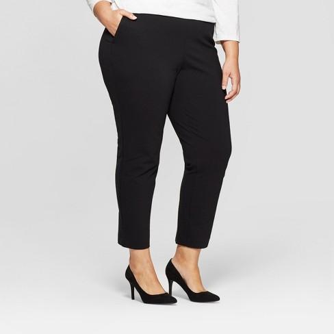 21c3c7ce27e Women s Plus Size Pull On Slim Ankle Ponte Pants - Ava   Viv™   Target