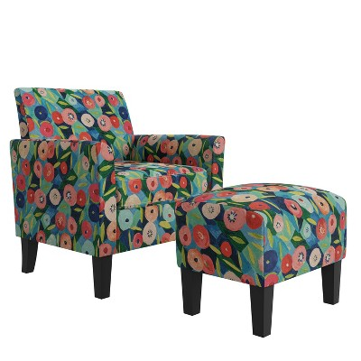 Marquee Half Round Armchair and Ottoman - Handy Living