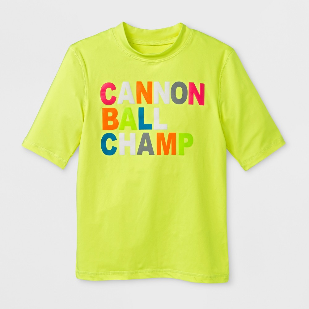Boys' Cannon Ball Champ Rashguard - Cat & Jack Neon Yellow M