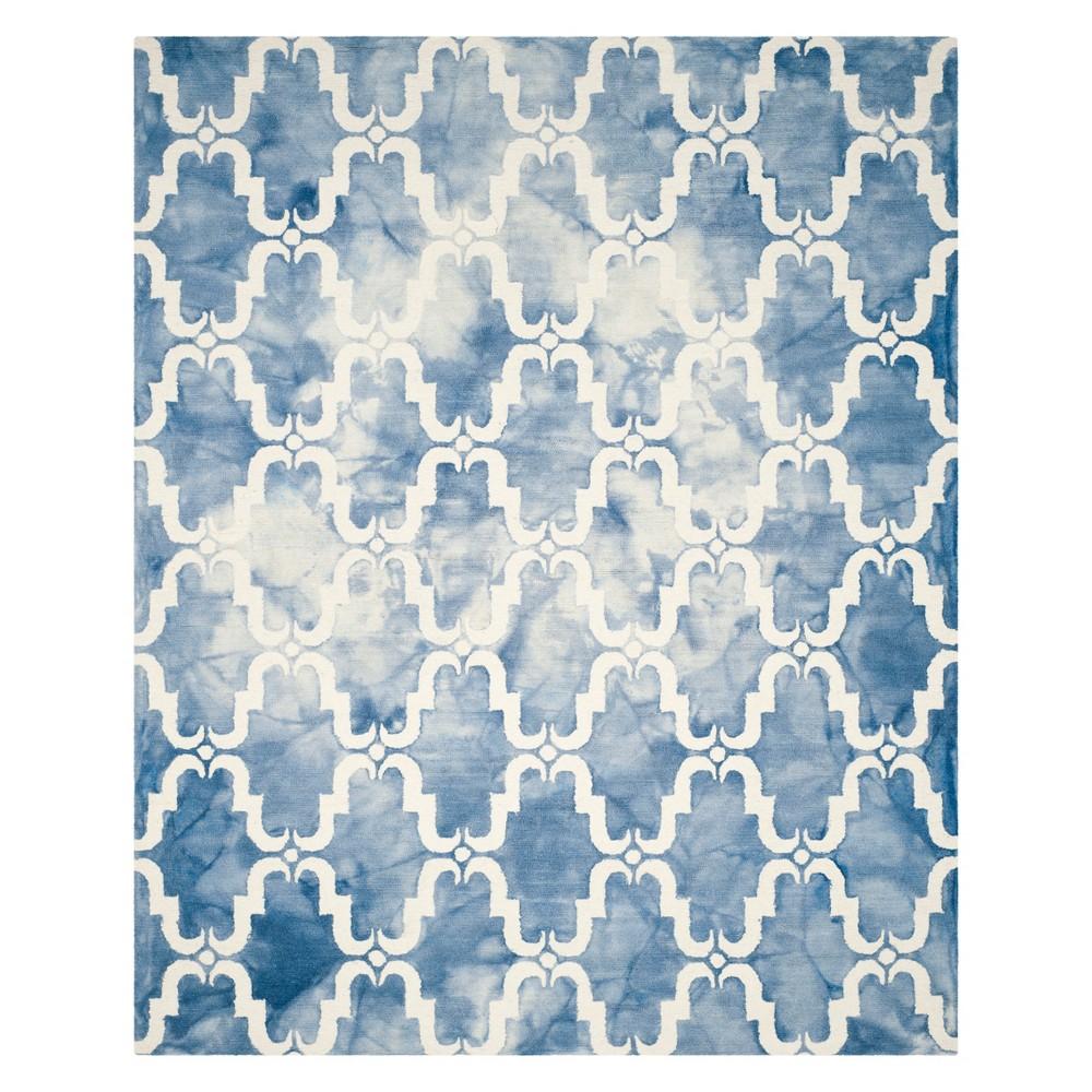 9'X12' Quatrefoil Design Area Rug Blue/Ivory - Safavieh
