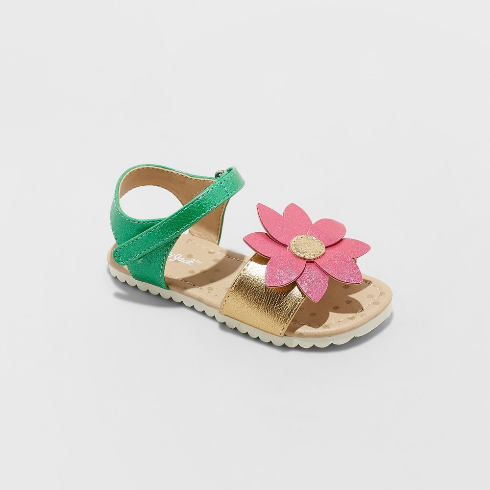 Toddler Girls' Tomasa Slide Sandals - Cat & Jack Pink 7