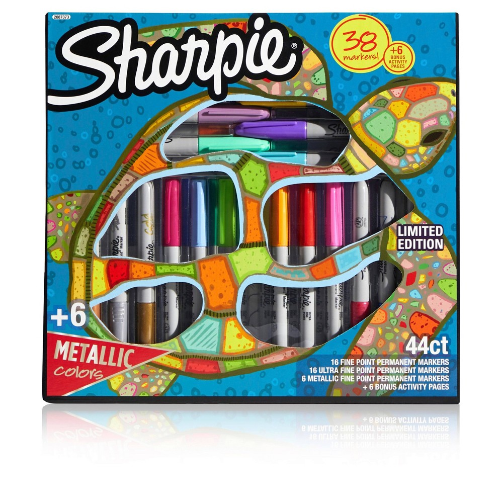 Image of 38ct Sharpie Permanent Marker Set with 6 Bonus Activity Pages