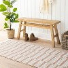 Wooden Bench Natural - Threshold™ designed with Studio McGee - image 2 of 4