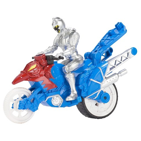 Power Rangers Dino Super Charge - Dino Stunt Bike and Silver Ranger - image 1 of 4