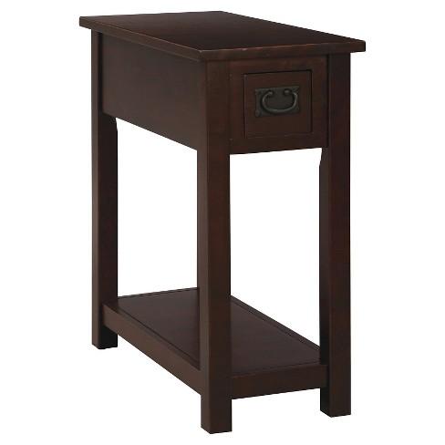Chairside Table Hardwood Espresso Alaterre Furniture