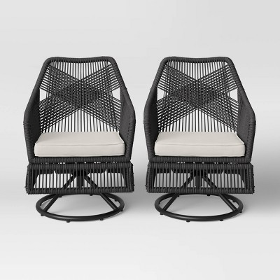 2pk Martin Rope Swivel Patio Rocking Chairs - Project 62™