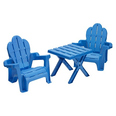 American Plastic Toys Adirondack Table And Chairs - image 1 of 1