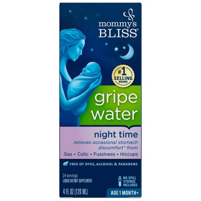 Mommy's Bliss Gripe Water Night Time for colic - 4 fl oz