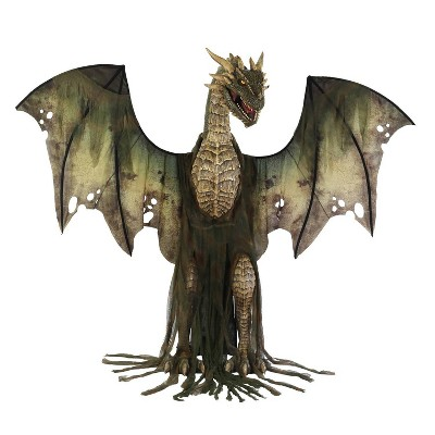 Winter Forest Dragon Animated Halloween Decorative Holiday Scene Prop