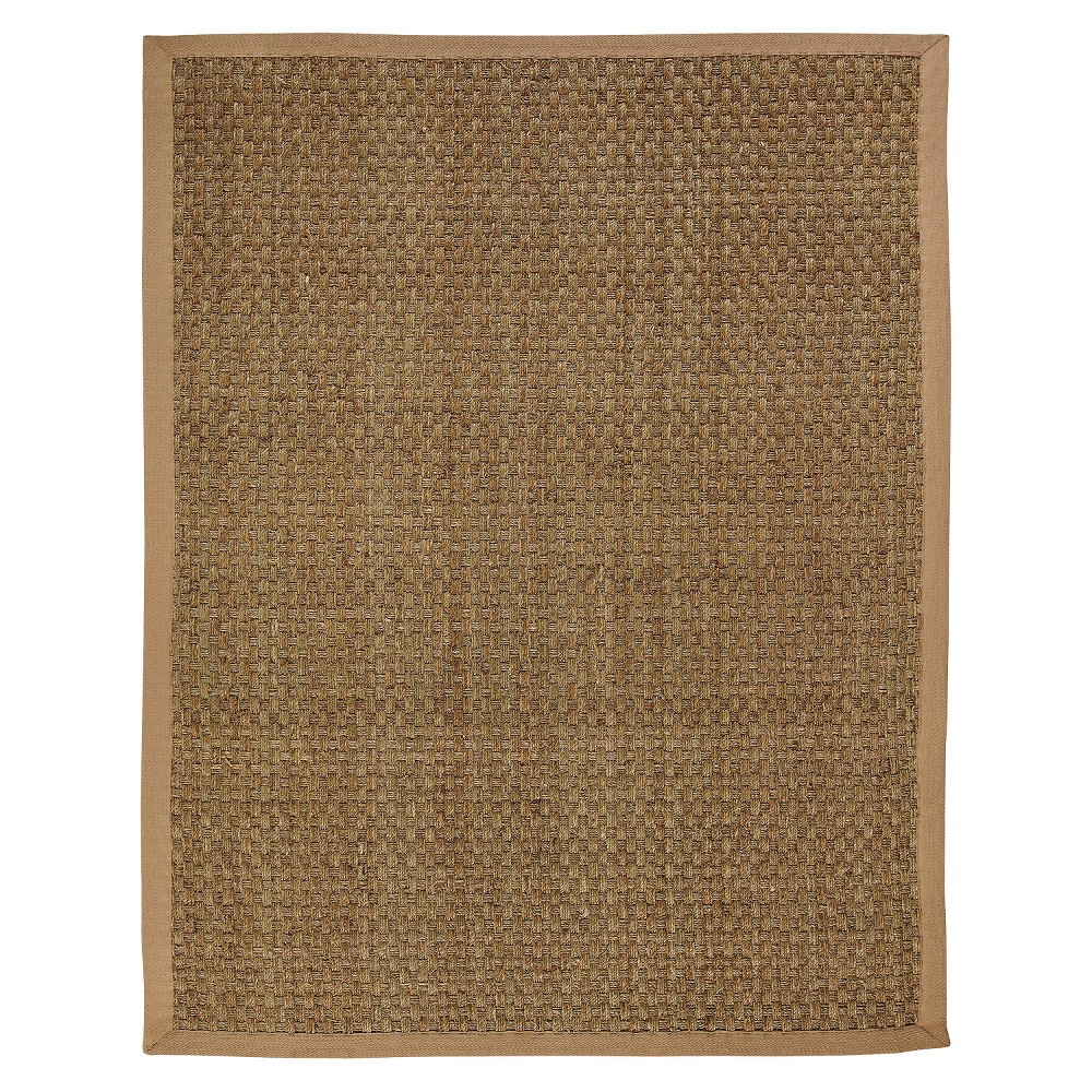 Seagrass Area Rug - Natural (5'x8'), Brown