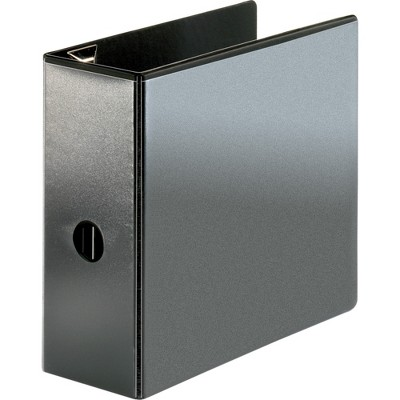 "Business Source View Binder Locking D-Ring 5"" Capacity Letter Black 26966"