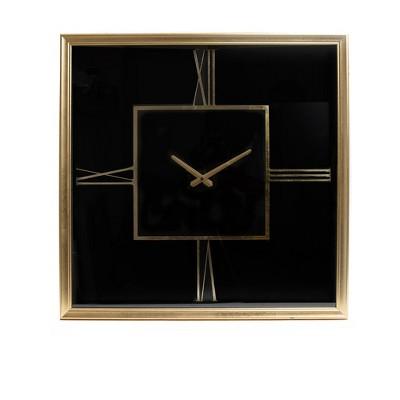 24  Roman Numeral Wall Clock Gold - Patton Wall Decor
