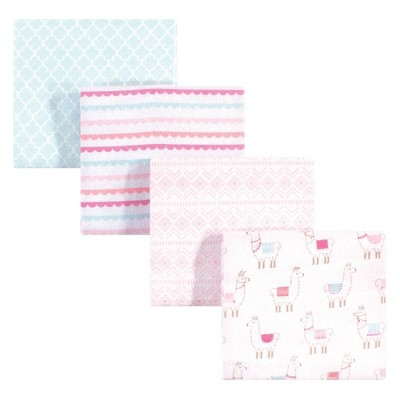 Hudson Baby Unisex Baby Cotton Flannel Receiving Blanket - Llama One Size