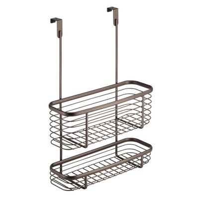 InterDesign Axis Over-the-Cabinet Steel Storage Basket 16  Bronze