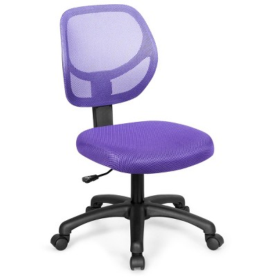 Costway Mesh Office Chair Low-Back Armless Computer Desk Chair Adjustable Height BluePinkPurple