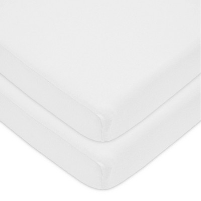 TL Care Fitted Cotton Playard Sheet - White - 2pk