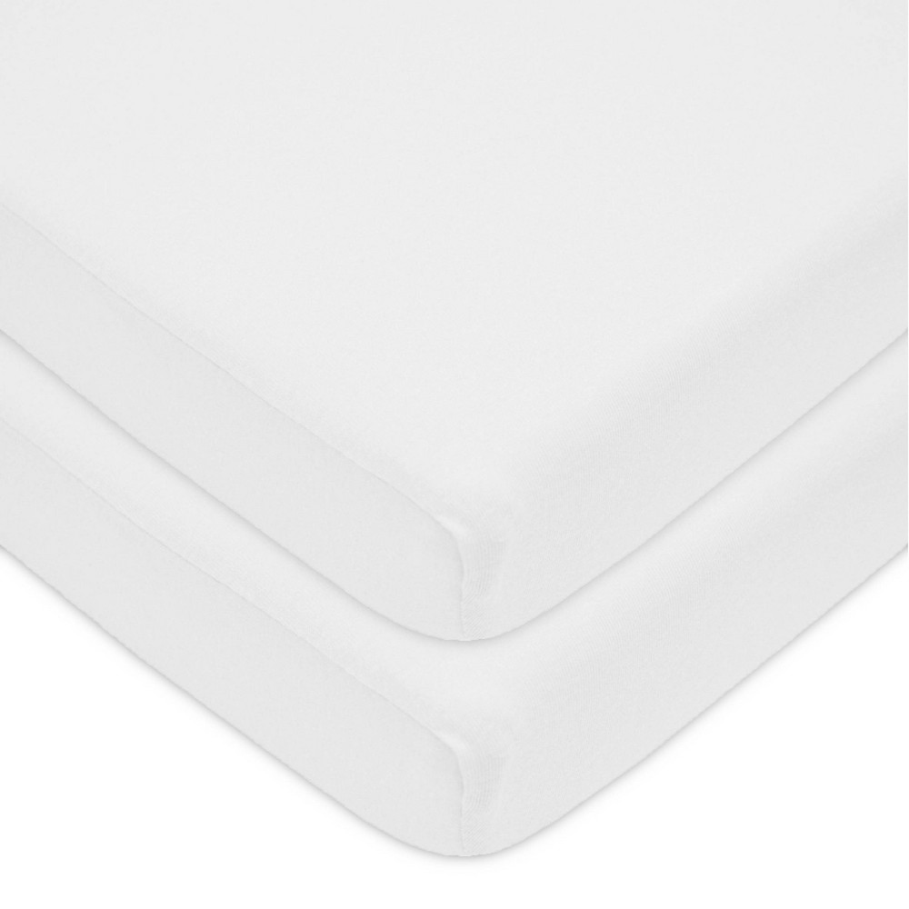 Tl Care Fitted Cotton Playard Sheet White 2pk