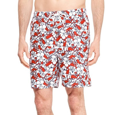 Men's Hibiscus Whale Swim Trunks   Red/Navy   Vineyard Vines® For Target by Red/Navy