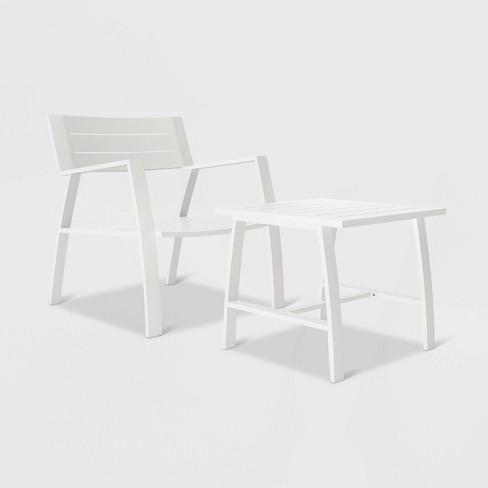 Avisa 2pc Patio Set - White - CosmoLiving - image 1 of 4
