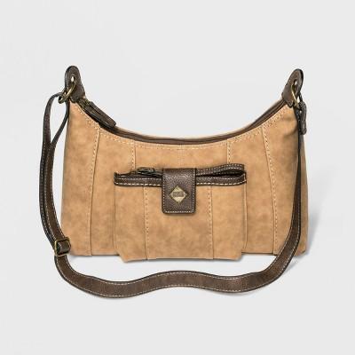 Bolo Zip Closure Leather Montville Crossbody Bag - Brown