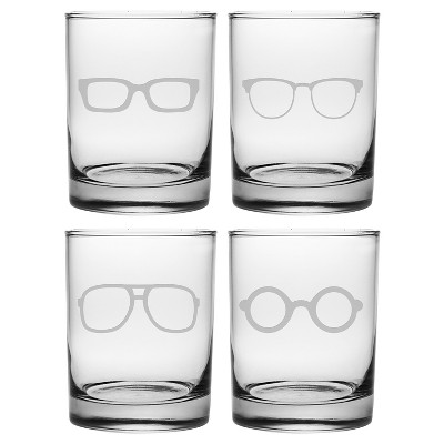 Susquehanna Glass Spectacles 14oz Double Old-Fashioned Glasses - Set of 4