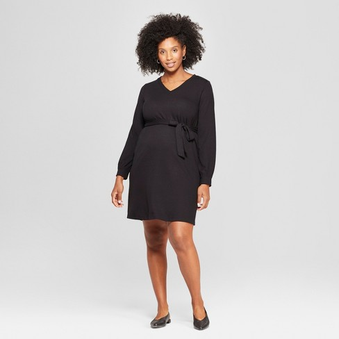 4b530d6ffb1 Maternity Tie Front Dress - Isabel Maternity by Ingrid   Isabel™ Black