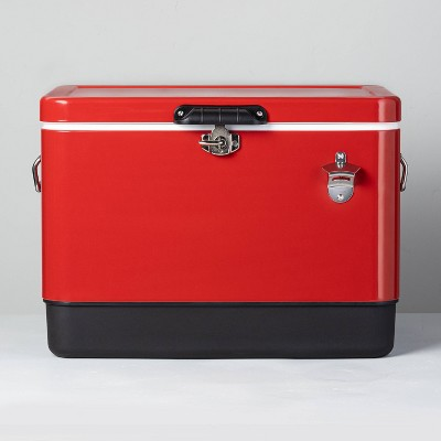 Vintage 54qt Metal Cooler Red - Hearth & Hand™ with Magnolia