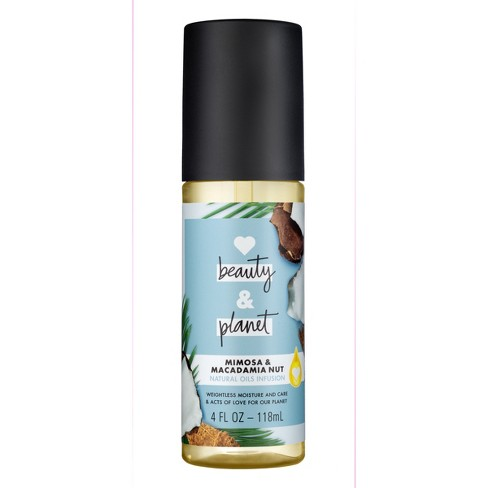 Love Beauty & Planet Mimosa & Macadamia nut Essential Hair Oil - 4 fl oz - image 1 of 5