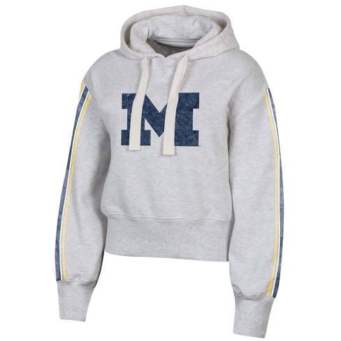 Official NCAA Michigan Wolverines Womens Hooded Fleece V-Neck Sweatshirt