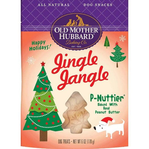 Old Mother Hubbard Jingle Jangle P-Nuttier Dog Treats – 6 oz - image 1 of 3