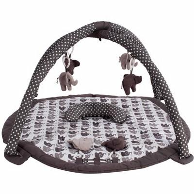 Bacati - Baby Activity Gyms & Playmats (Elephants White/Grey)