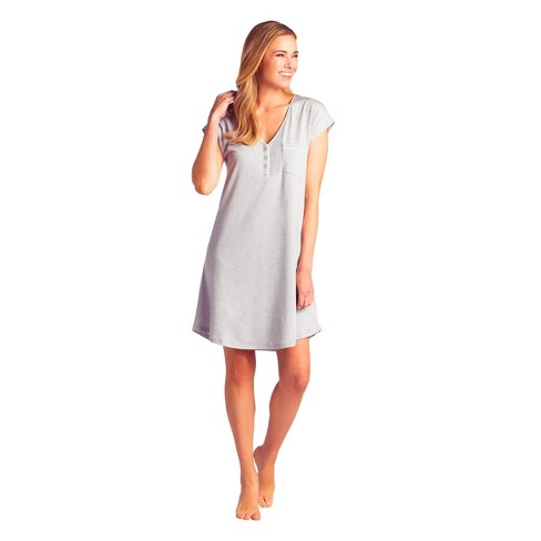 Softies Women's Cap Sleeve V-Neck Sleep Shirt with Contrast Piping - image 1 of 4