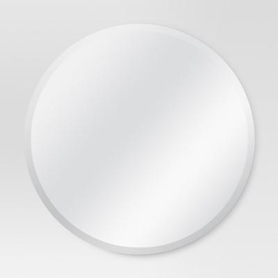 Round Frameless Decorative Wall Mirror - Threshold™