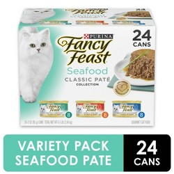 Purina Fancy Feast Classic Seafood Feast (Variety) - Wet Cat Food -3oz / 24pk