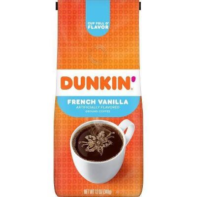 Dunkin' Donuts French Vanilla Flavored Medium Roast Ground Coffee - 12oz