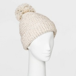 Women's Cuffed Knit Beanie with Lining - Universal Thread™ One Size